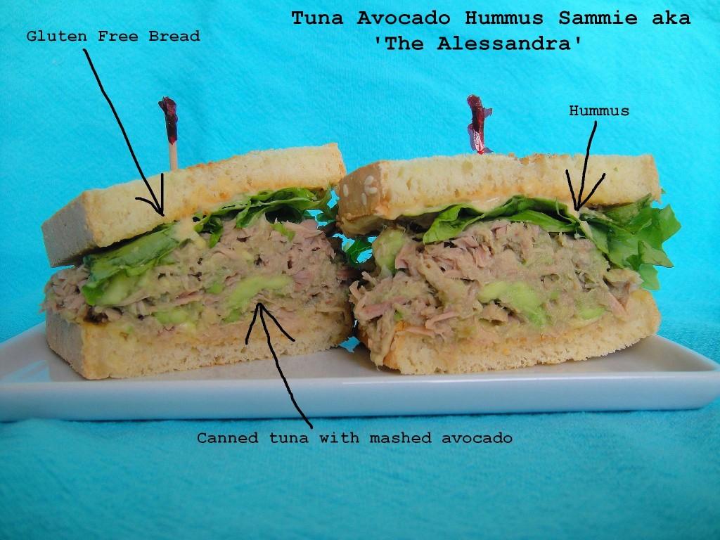 Tuna Avocado Hummus Sandwich | freshnessgf.com