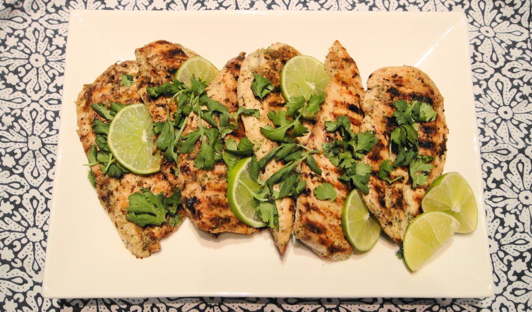 Grilled Coriander Lime Chicken