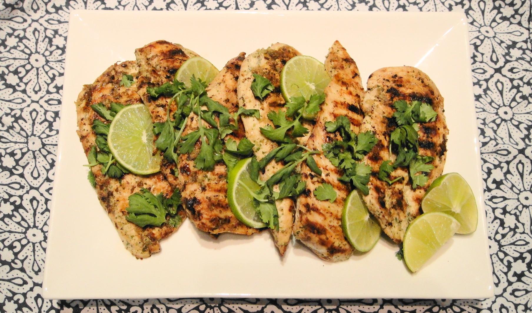 Grilled Coriander Lime Chicken | Freshnessgf.com