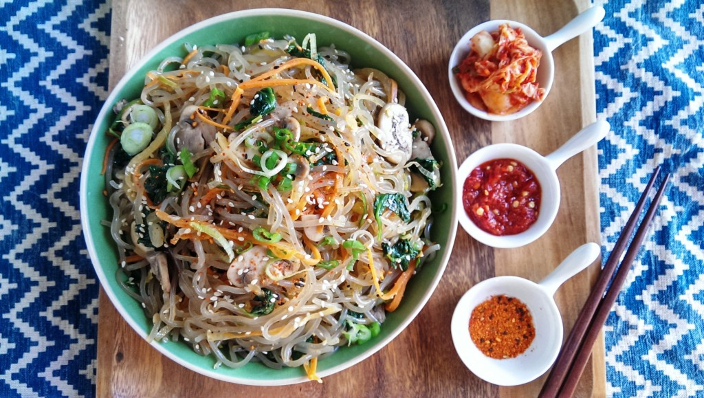 Jap Chae (Gluten Free Korean Glass Noodles)