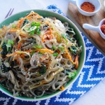 Japchae (Korean Glass Noodles) | Freshnessgf.com