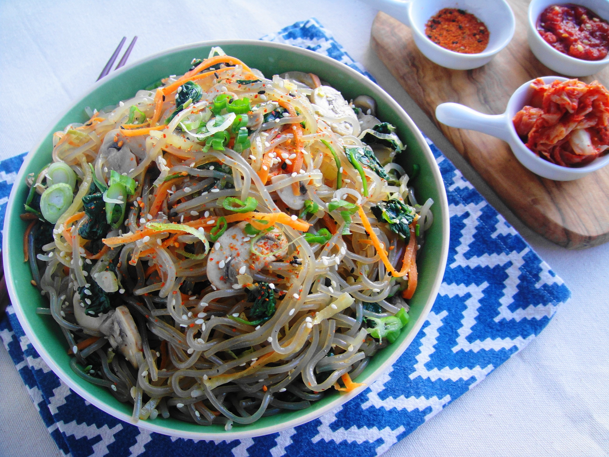 Japchae (Gluten-Free Korean Glass Noodles)