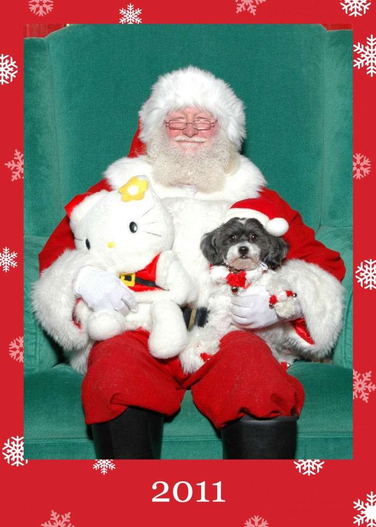 That's my pup Pucci's with Santa from a couple years back.  She's such a poser.  Happy Holidays!
