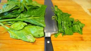 spinach chiffonade