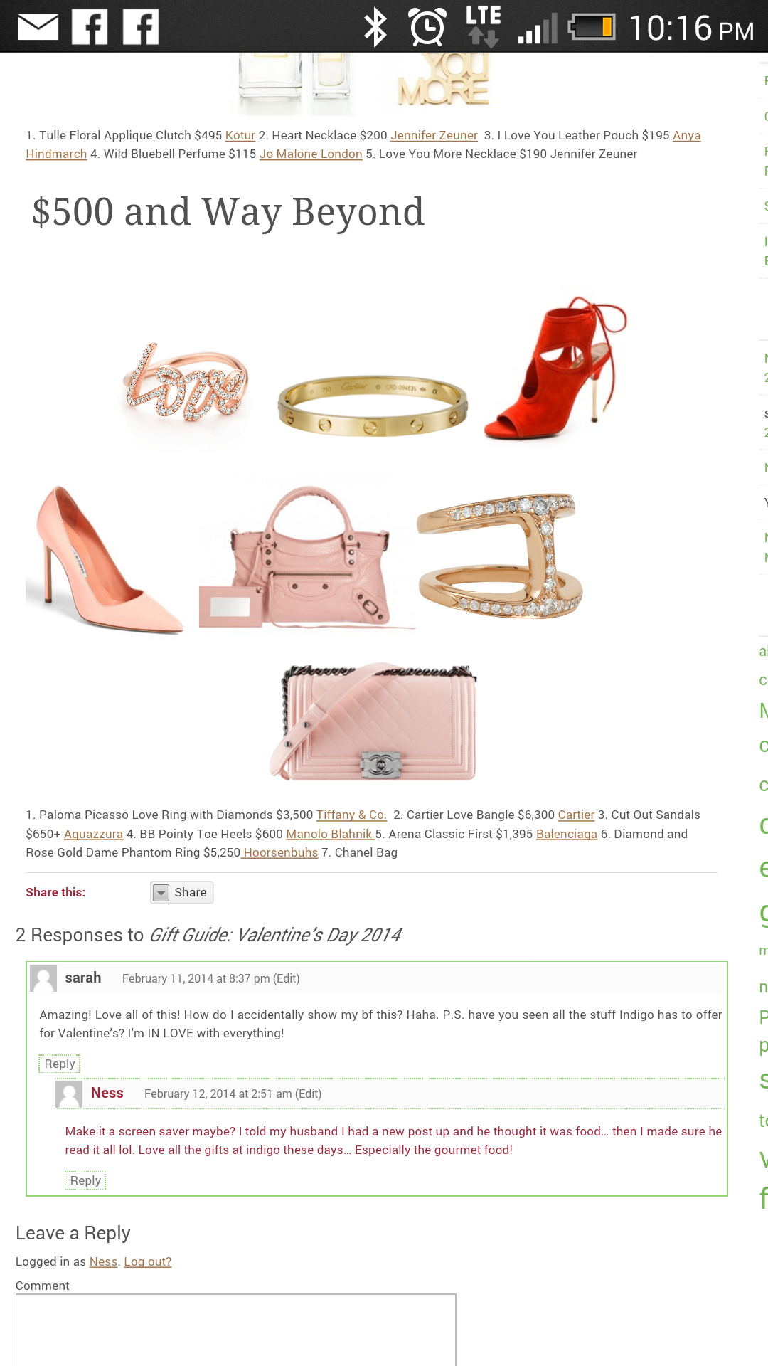 Gift Guide: Valentine's Day 2014
