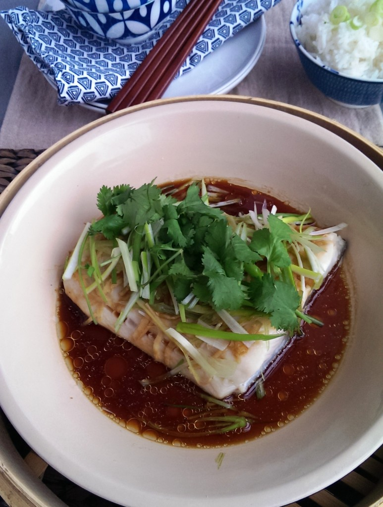 Steamed Fish Cantonese Style