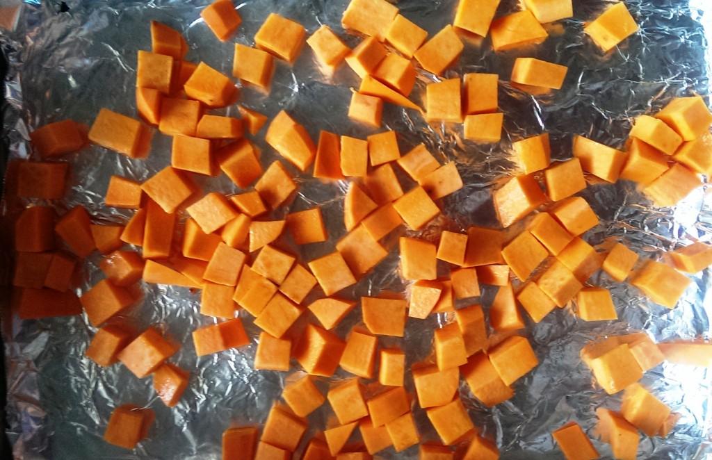 sweet potato on foil