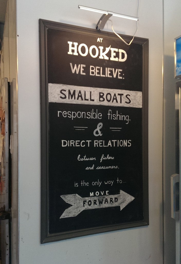 hooked sign