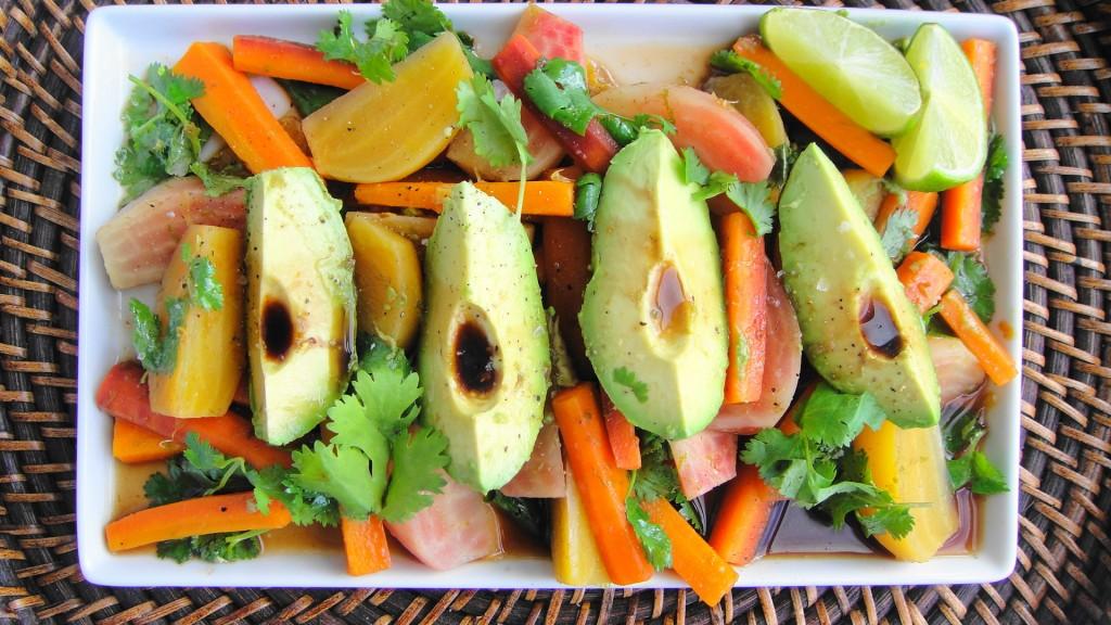 salad on platter
