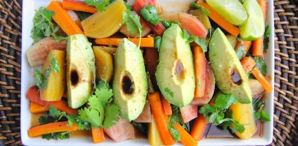 Avocado Beet Carrot Salad | Freshnessgf.com