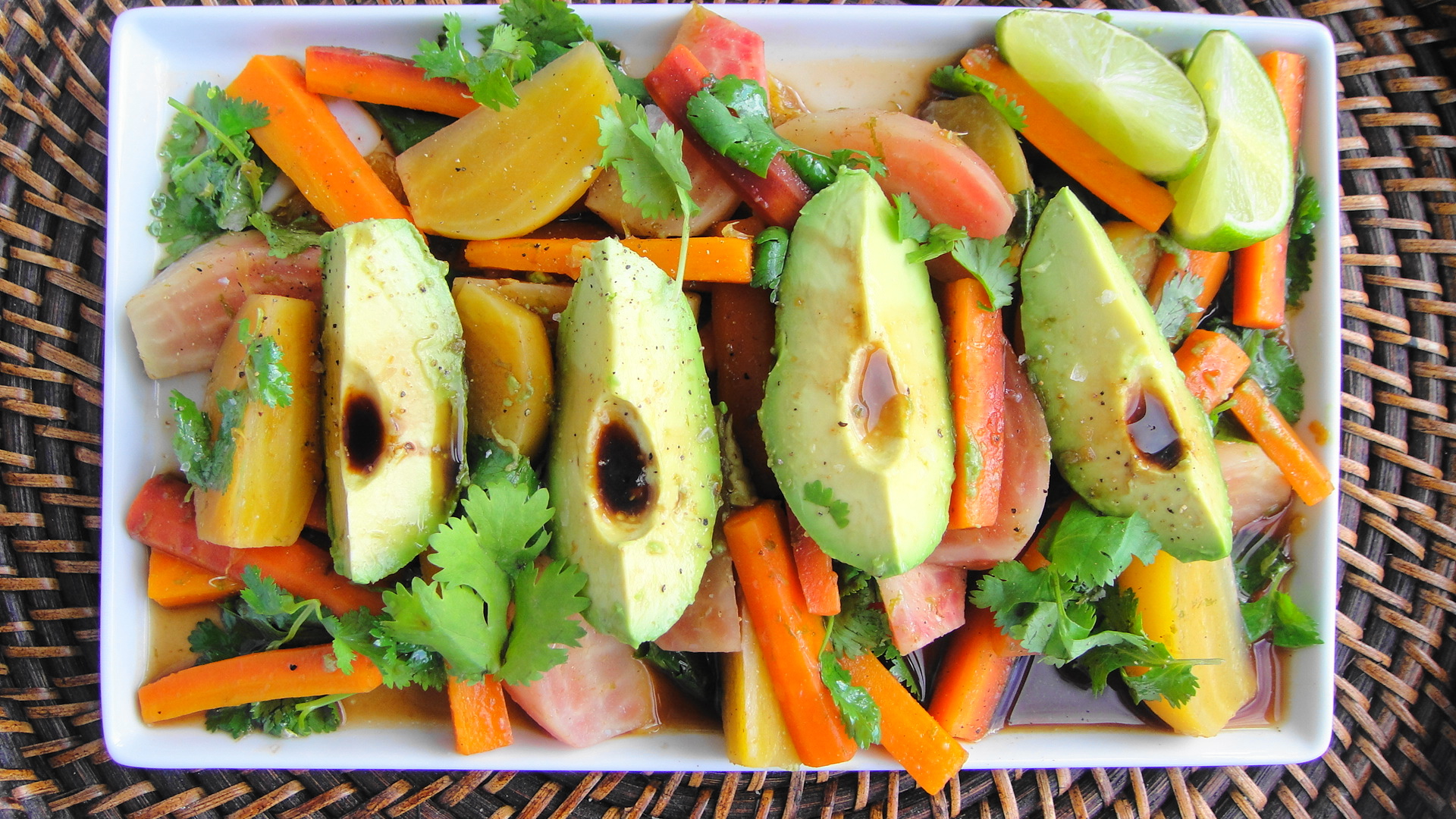 Avocado Beet Carrot (ABC) Salad