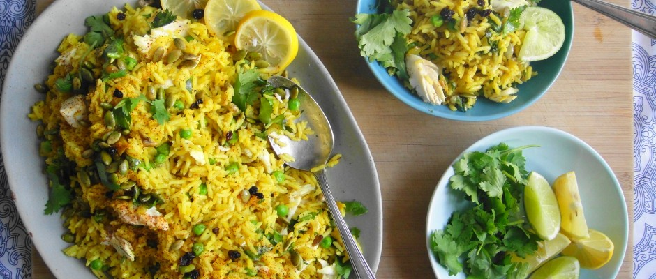 Kedgeree (Indian Spiced Rice with Fish)