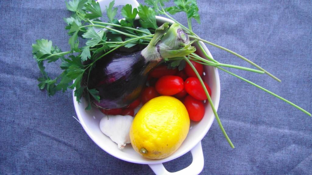 corn salad ingredients in bowl