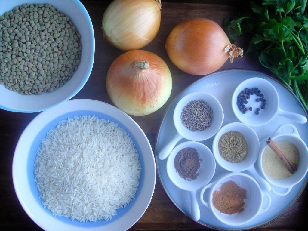 Mujadara spices