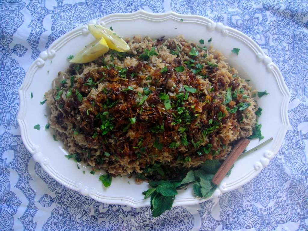 Lebanese Rice with Lentils and Caramelized Onions (Mujadara)