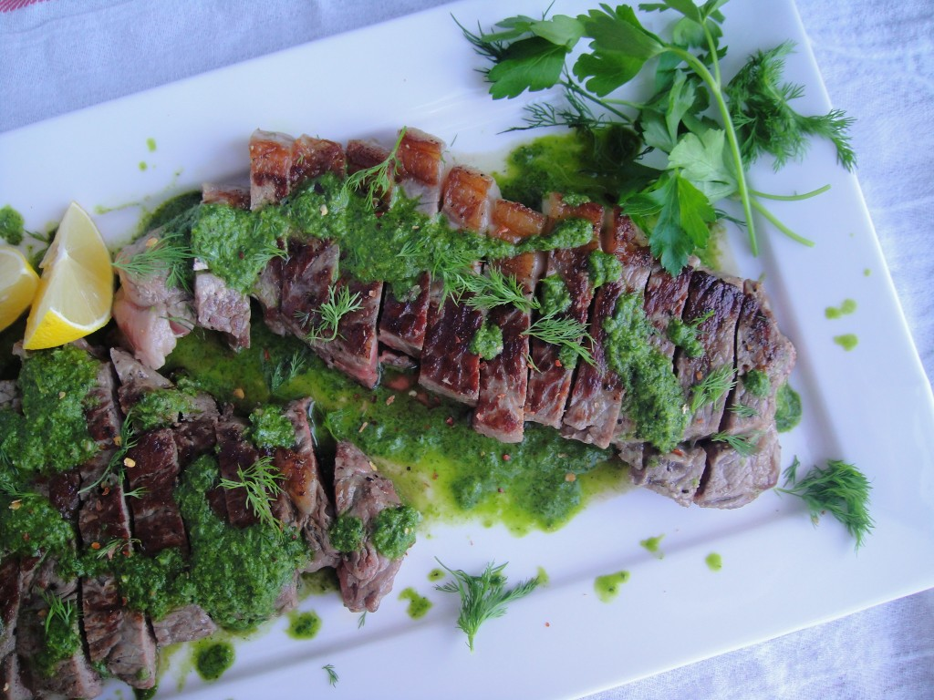 Steak with Chimichurri Sauce | Freshnessgf.com