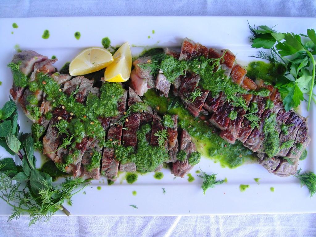 Steak with Chimichurri | Freshnessgf.com