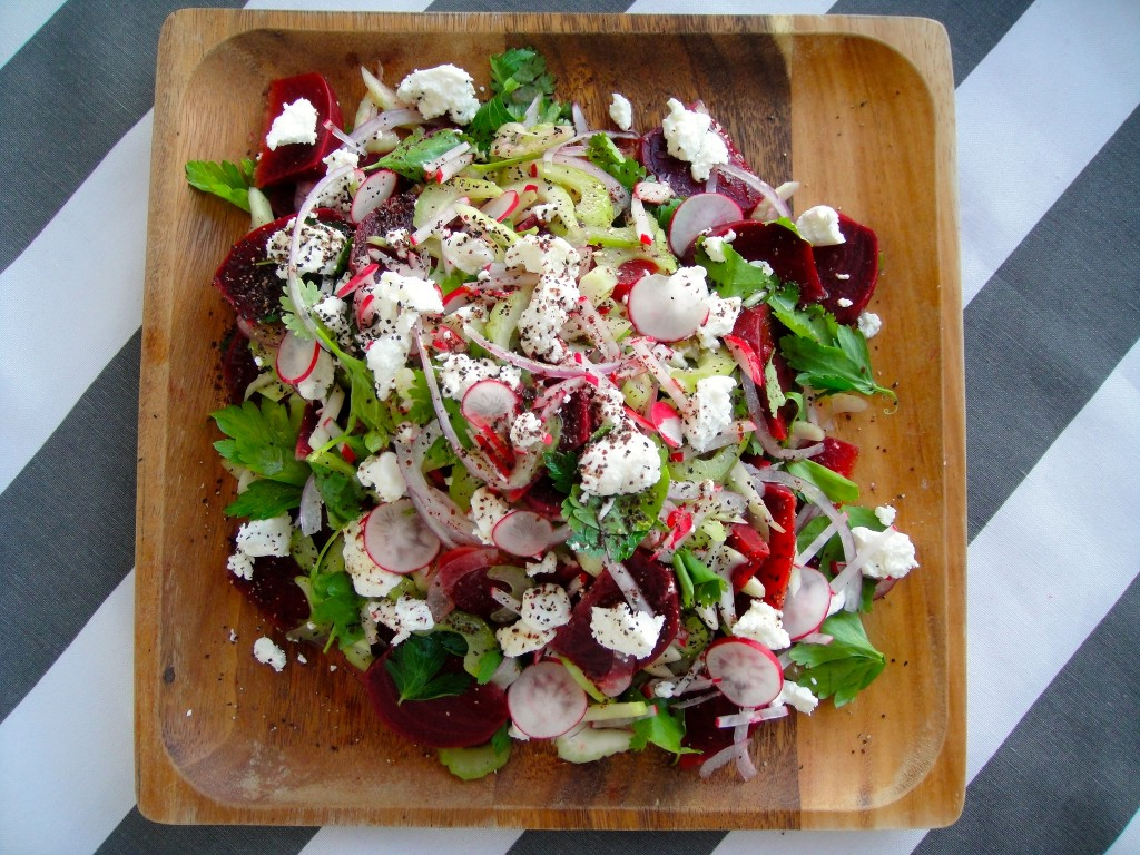 Herbed Beet and Celery Salad | Freshnessgf.com